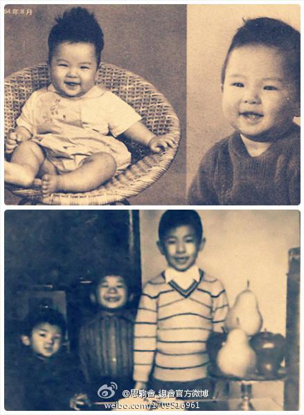 发一张黄贯中,黄贯其,黄贯庭三兄弟小时候的照片